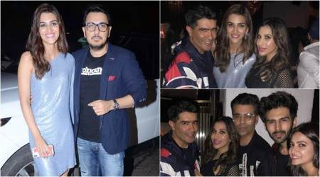 Sushant Singh Rajput, Rajkummar Rao and Shraddha Kapoor attend Dinesh Vijan and Kriti Sanon's birthday bash
