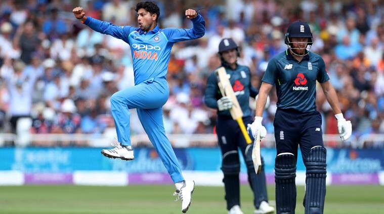 India vs England, Ind vs Eng, Kuldeep Yadav, Kuldeep Yadav wickets, Kuldeep Yadav bowling, Eoin Morgan, sports news, cricket, Indian Express