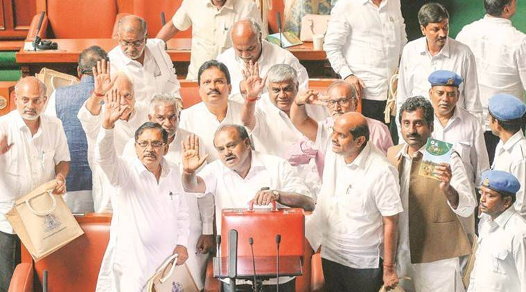 karnataka budget, hd kumaraswamy, karnataka government, karnataka assembly, karnataka polls, indian express, karnataka news
