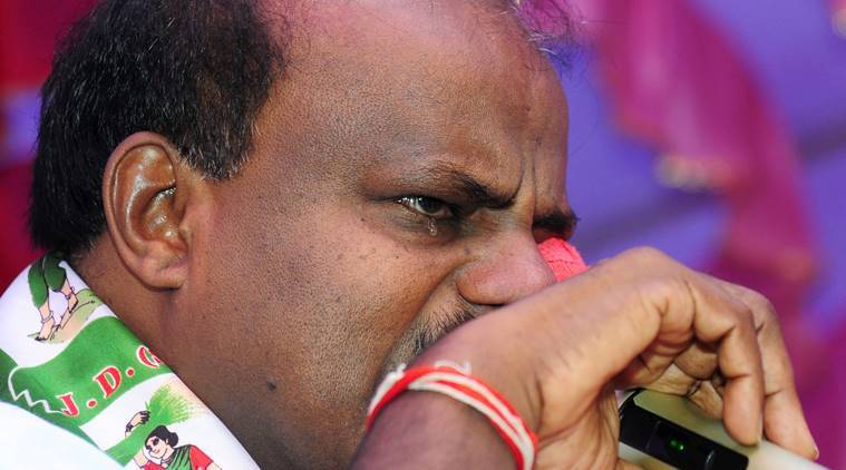 Karnataka Chief Minister HD Kumaraswamy breaks down while speaking of Congress-JDS coalition govt