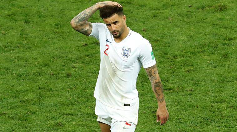 FIFA World Cup 2018, Kyle Walker FIFA World Cup 2018, Kyle Walker England, England vs Croatia, sports news, football, Indian Express
