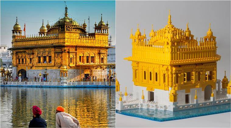 golden temple amritsar, lego golden temple, Sri Darbar Sahib, Sri Darbar Sahib lego set, viral photos, viral news, trending news, indian express