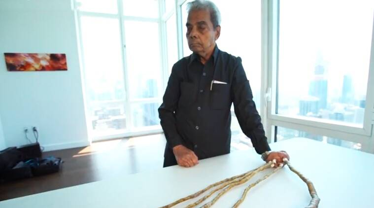 longest nails, indian man longest fingernails, indian man longest fingernails cut, indian man longest fingernails cut Guinness Book records, Indian express, Indian express news