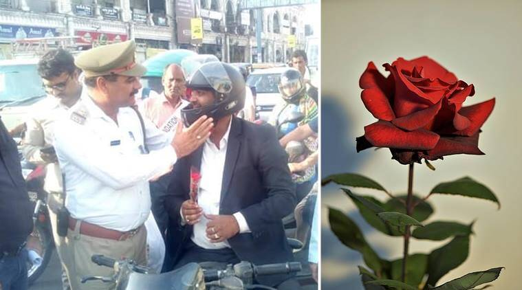 lucknow police, police give rose, red rose police, police rose husband wife spat, funny news, odd news, bizarre news, weird news, odd news, indian express