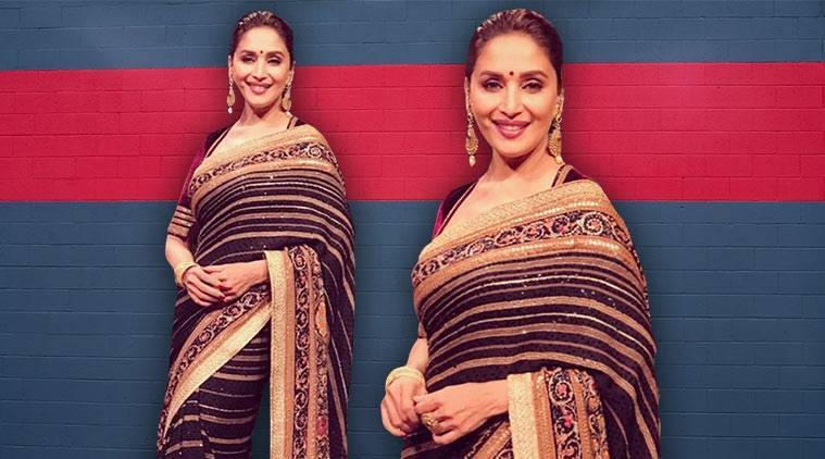 Madhuri Dixit, Madhuri Dixit latest photos, Madhuri Dixit fashion, Madhuri Dixit saris, Madhuri Dixit Tarun Tahiliani, indian express, indian express news