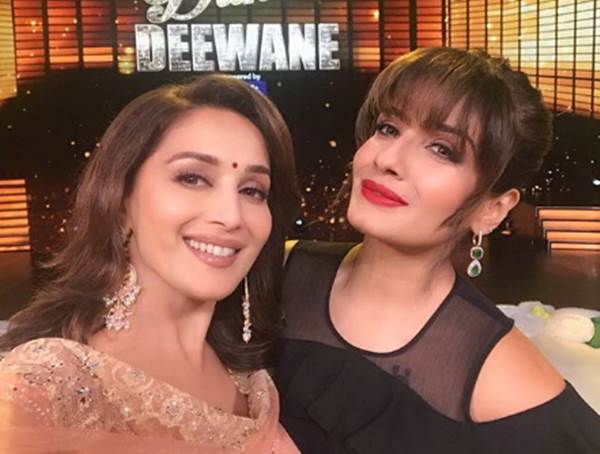 Madhuri Dixit Nene and Raveena Tandon