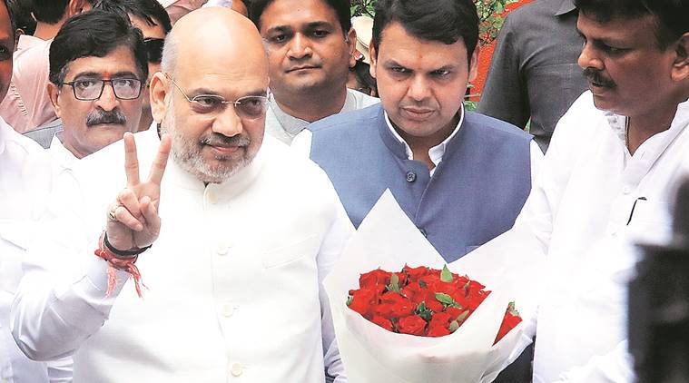 BJP, Amit Shah, Devendra Fadnavis, bjp allies, Shiv Sena, Lok sabha polls, general elections 2019, maharashtra news, indian express