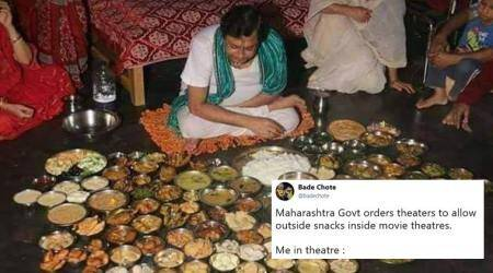 Maharashtra govt allows outside food in multiplexes and it's raining memes & jokes online