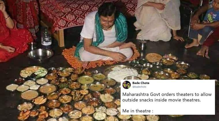 maharashtra multiplex order, outside food multiplex, outside food maharashtra halls, maharashtra movie hall no food ban, funny news, viral news, indian express, maharashhtra news