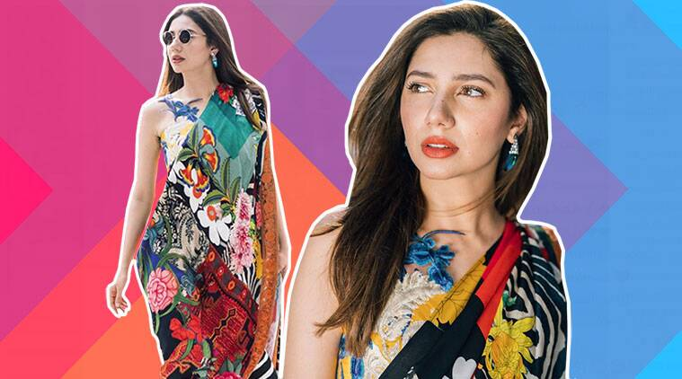 mahira khan, mahira khan in sari, mahira khan latest looks, mahira khan instagram, indian express, indian express news