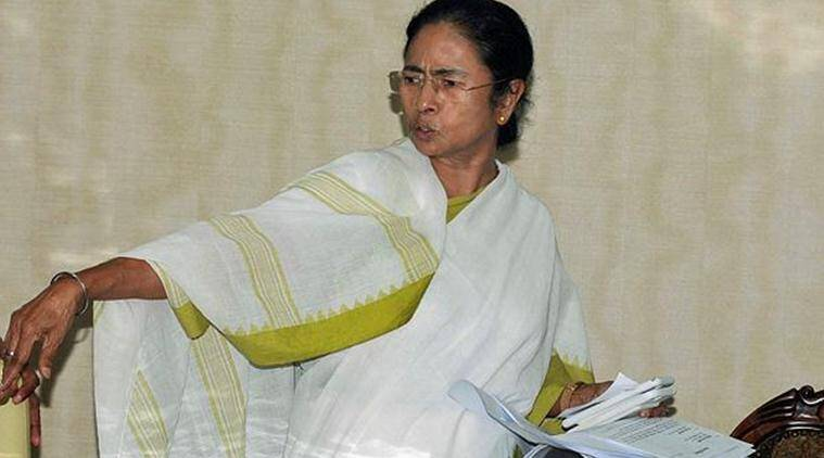 West Bengal Chief Minister Mamata Banerjee arrives to address a press conference over the final NRC draft, at Nabanna in Howrah on Monday. (PTI)