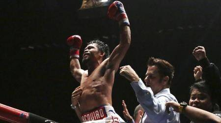Manny Pacquiao wins 60th career fight with seventh-round knockout