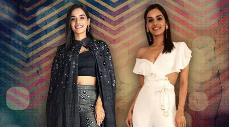 Manushi Chhillar packs a powerful punch in her dramatic Batman-inspired outfit