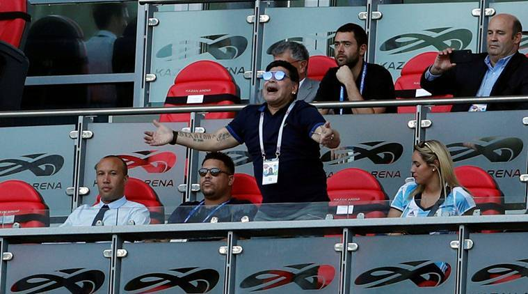 Diego Maradona, Diego Maradona Argentina, Argentina Diego Maradona, FIFA World Cup 2018, sports news, football, Indian Express