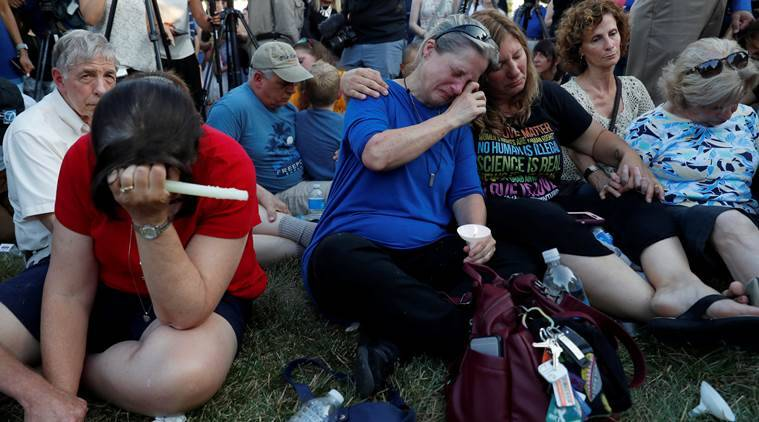 Maryland shooting: Small capital Annapolis in grief after five killed by gunman