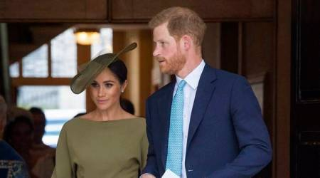 Meghan Markle ditches messy bun; debuts a new hairstyle with olive green dress