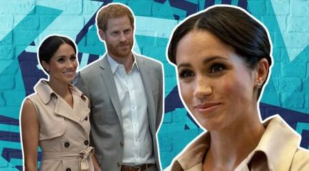 After wowing with bold colours, Meghan Markle goes back to pastel shades and messy buns