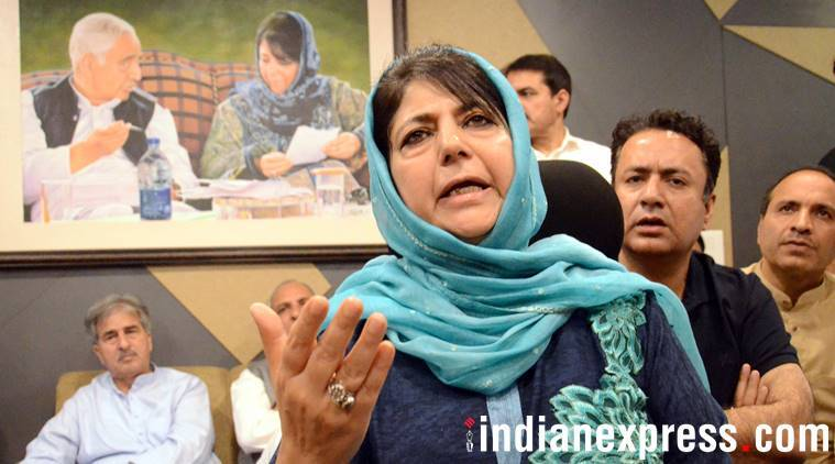 Mehbooba Mufti protests sedition charges on AMU students, calls Manan Wani 'victim of relentless violence' in Valley