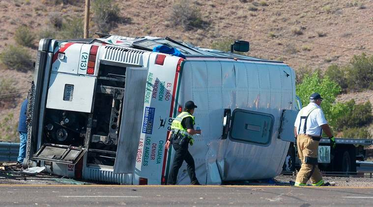 3 killed and 22 injured in crash involving tour bus