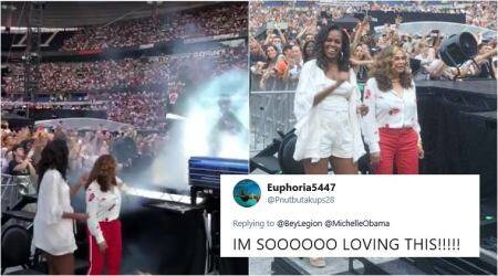 VIDEO: Michelle Obama dances at Beyoncé and Jay-Z concert; Twitterati go wild