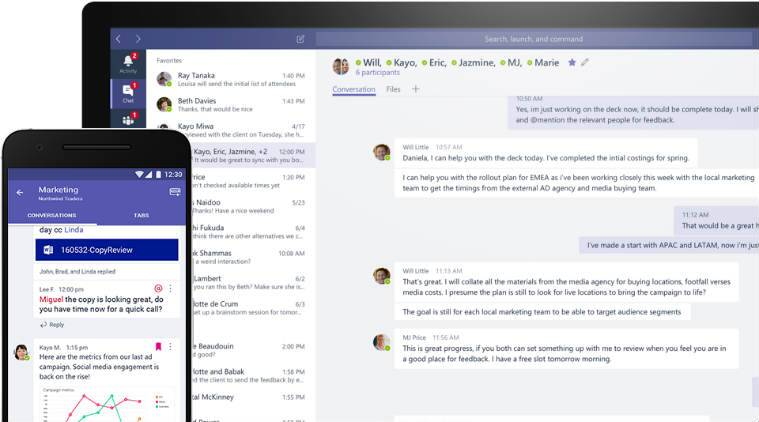 Microsoft, Microsoft Teams, Slack, Teams, Workplace collaboration software, Workplace collaboration, Work chat, Work chatting, Teams collaboration, Slack vs Teams, Workplace, Facebook Workplace