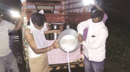 Shetti launches agitation: Milk collection hit, dips by 50%