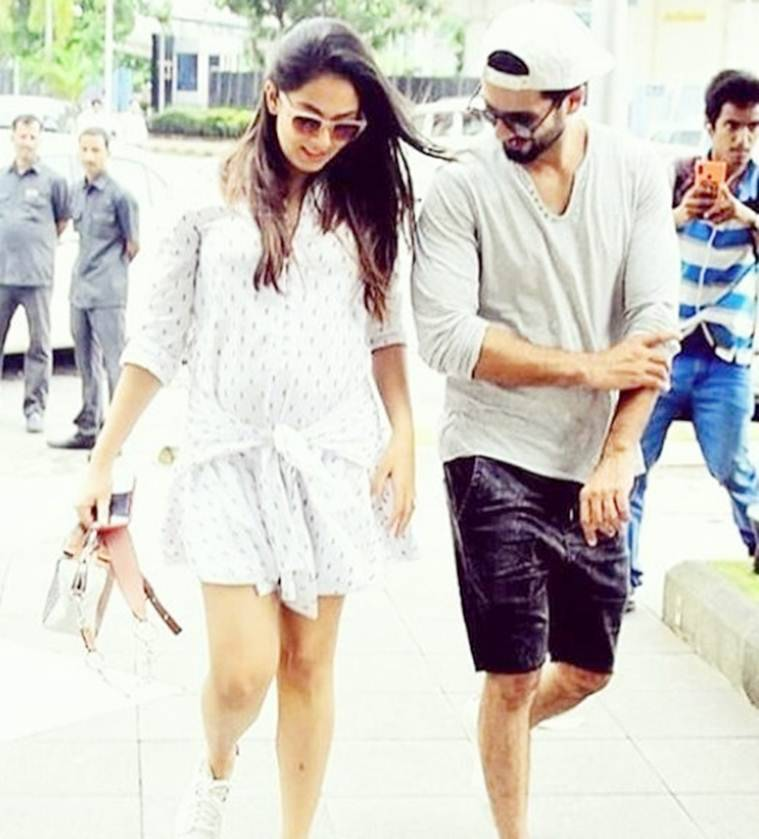 mira rajput and shahid kapoor happy picture