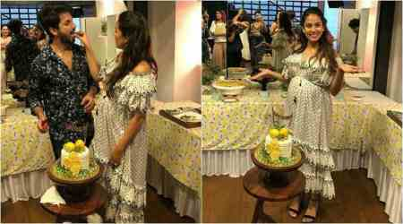 Shahid Kapoor's wife Mira Rajput glows at her second baby shower