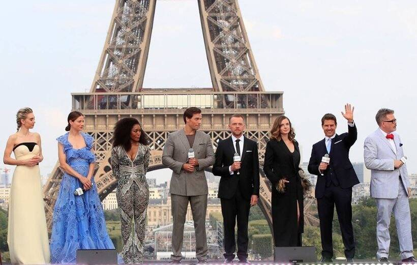 mission impossible fallout cast at the world premiere of the film in paris