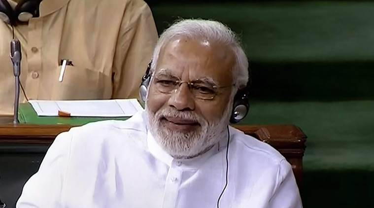 Narendra Modi, Rahul Gandhi, Narendra Modi speech, Monsoon Session, No confidence motion, Lok Sabha, No-confidence debate, NDA, Congress, Rahul Gandhi, Narendra Modi, 2019 general election, TDP, India news, Indian Express