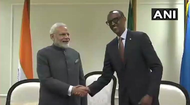 PM Modi becomes first Indian prime minister to set foot in Rwanda