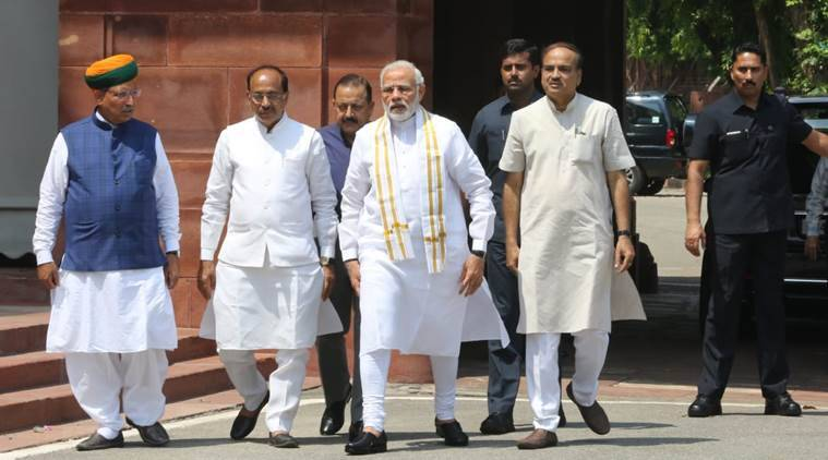 It is now 15 years since a discussion on a motion of no-confidence took place in the Lok Sabha. (Express photo by Renuka Puri)