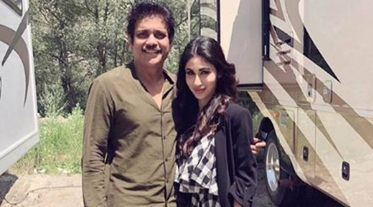 mouni roy with nagarjuna on Brahmastra sets