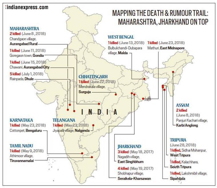 The Indian Express finds a pattern to mob lynchings across India
