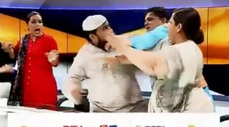 VIDEO: Muslim cleric arrested for slapping woman lawyer during triple talaq debate on live TV