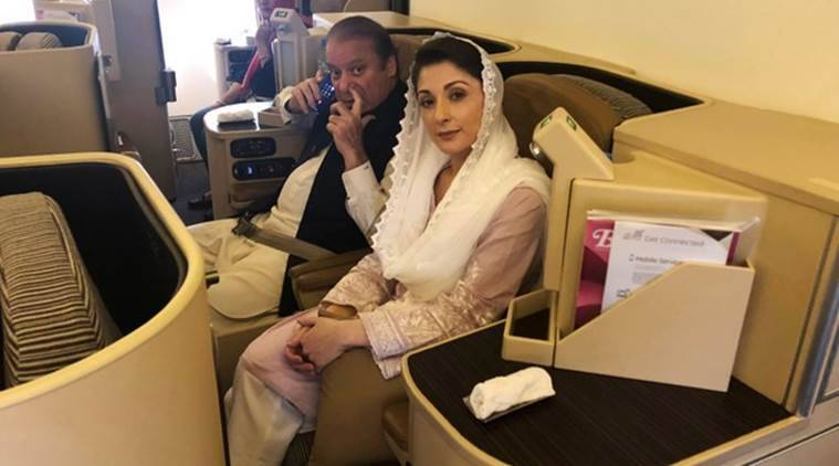 Nawaz Sharif, Maryam Nawaz Sharif, Nawaz Sharif arrest, Pakistan media, Pakistan news, Indian Express news