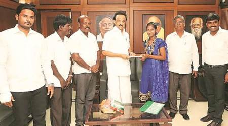 Chennai: Cheque handed over to NEETaspirant