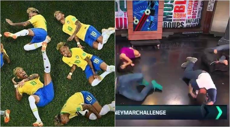 fifa world cup 2018, neymar, neymar rolling, neymar challenge, neymar roll world cup, world cup memes, neymar memes, world cup news, funny news, viral news, sports news, indian express