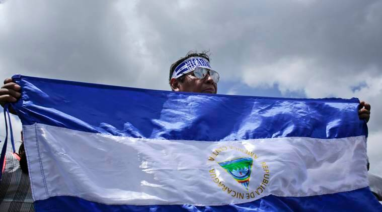 Nacaragua, Nicaragua President Daniel Ortega, Nicaragua violence, more than 300 dead in violence, Nicaragua crackdown on protesters, US sanctions, World News, Indian Express