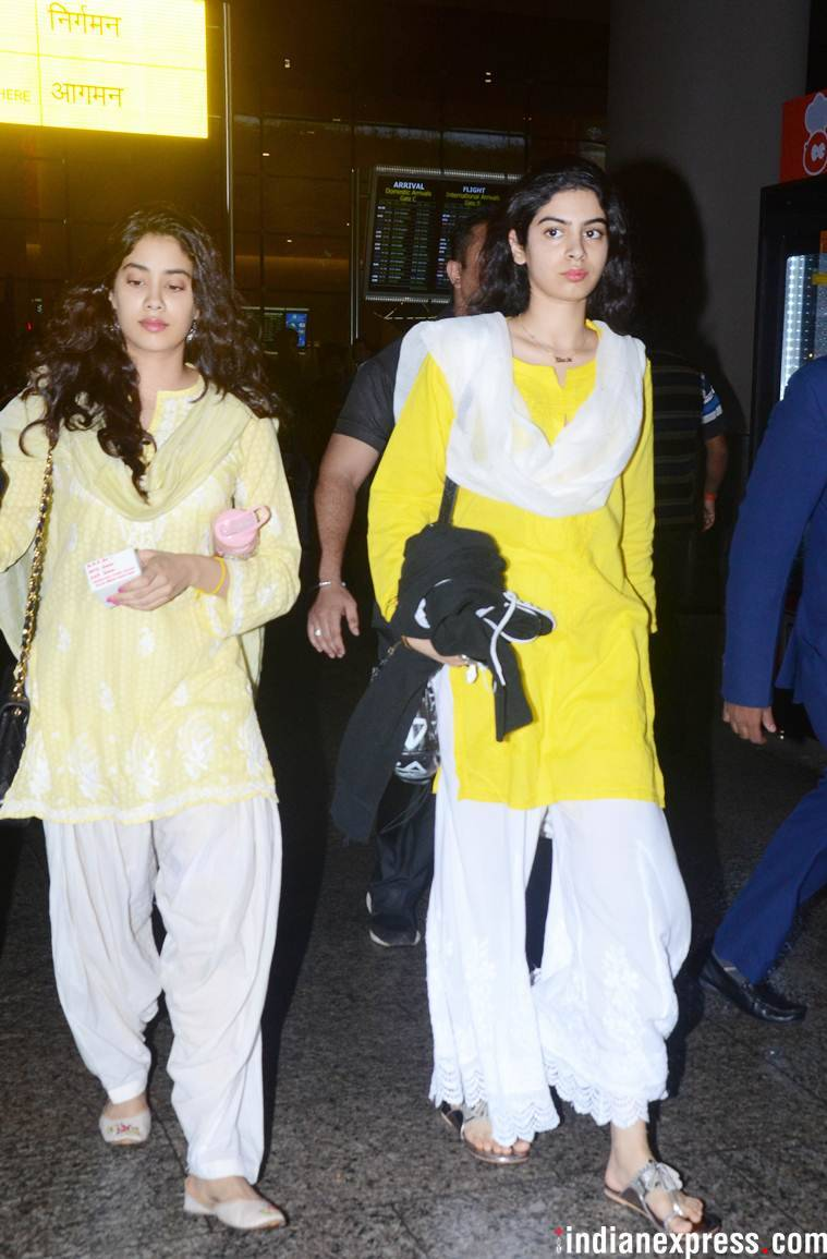 janhvi kapoor back to Mumbai