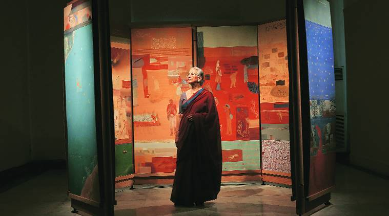 Nilima Sheikh, Nilima Sheikh art, Nilima Sheikh interview, Nilima Sheikh art works, Nilima Sheikh art and culture, Nilima Sheikh paintings, indian express, indian express news