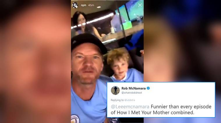 Neil Patrick Harris Cheers For Manchester United At A