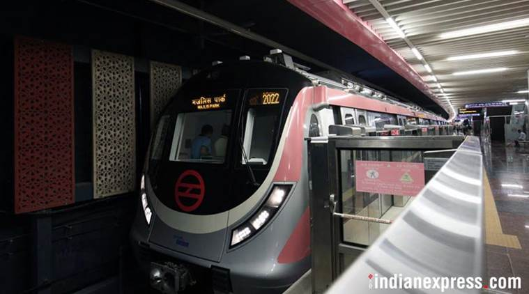 Delhi Metro, Delhi Metro rail corporation, DMRC, Pink Line, Durgabai Deshmukh South campus to Lajpat Nagar, DD south campus to Lajpat nagar, Hardeep Singh Puri, Arvind Kejriwal, Delhi News, Indian Express