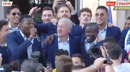 VIDEO: Pogba sings for N'Golo Kanté as part of France's World Cup celebrations; says he's 'better than Messi'