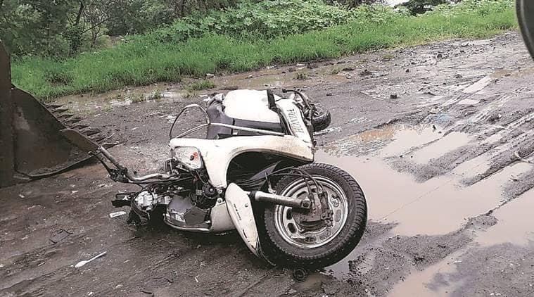 Rohini: Man dies after bike hits pothole