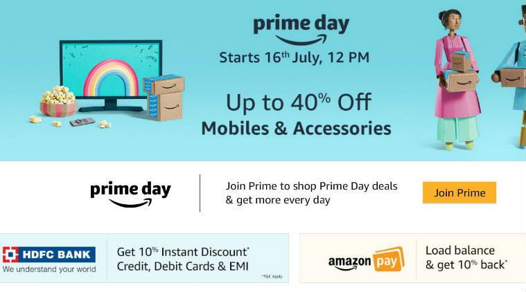amazon prime day 2018 discounts deals on honor 7c moto g6 and more the indian express. Black Bedroom Furniture Sets. Home Design Ideas