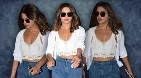 We can't wait to try out Priyanka Chopra's cool blue jeans-white top combo; what about you?