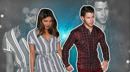 Priyanka Chopra's striped midi dress on a date night with Nick Jonas is comfy but high on style quotient