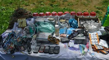 Kashmir: Weapons, explosives with Pakistani markings recovered in Pulwama, two held