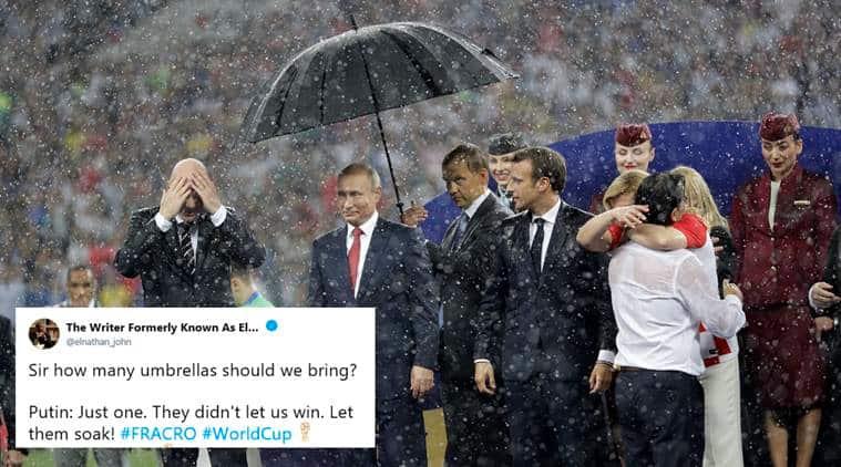 Komentar netizen tentang payung yang lindungi Presiden Putin